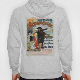 1896 Normandy Brittany Jersey travel ad Hoody