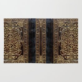 Gilded Leather Tome Rug