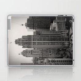 Chicago Tribune Tower Building Black and White Photo Laptop & iPad Skin