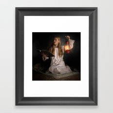 Reading After Bedtime Framed Art Print