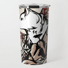Wolf Ukiyo-e Travel Mug