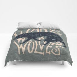 Wary of the Wolves Comforters