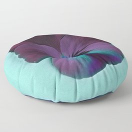 Purple viola tricolor Floor Pillow