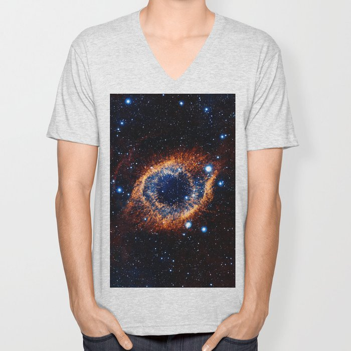 Helix Nebula (Infrared) Unisex V-Neck