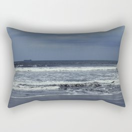 Blue sea, blue sky Rectangular Pillow