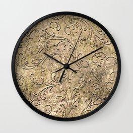 Vintage Damask 17416 Wall Clock