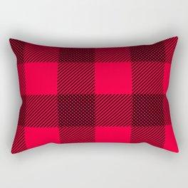 DigiPlaid Red Rectangular Pillow