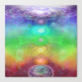Chakra Activation Geometry Template Canvas Print