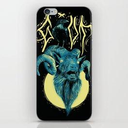 Goat Raven iPhone Skin
