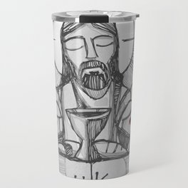 Jesus Christ Eucharist illustration Travel Mug