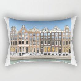 Amsterdam Canal Art Rectangular Pillow