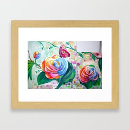 my Flowering world Framed Art Print