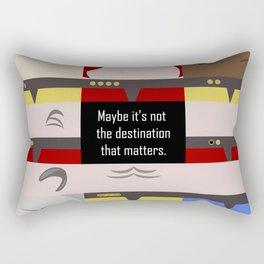 Maybe it's not the Destination that matters - Star Trek: Voyager VOY startrek trektangle minimalist Rectangular Pillow