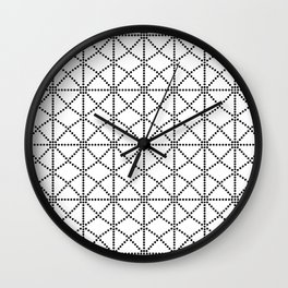 Dots and Diamonds, Black and White Wall Clock