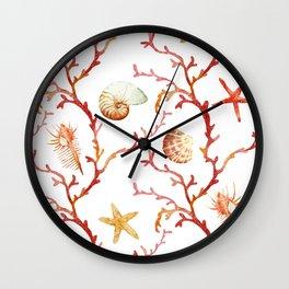 Sea Life Pattern 13 Wall Clock