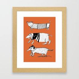 the happy teckels Framed Art Print