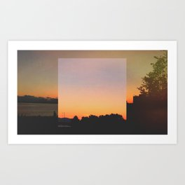 Sculpture Park Sunset Art Print