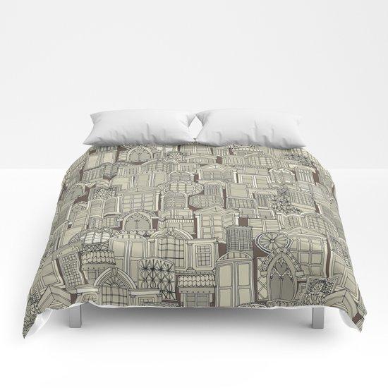 windows umber Comforters