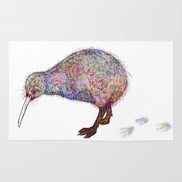 Painted Kiwi Bird Rug