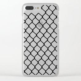 Chain Link Black on Blush Clear iPhone Case