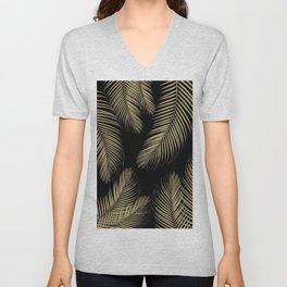 Palm Leaves - Gold Cali Vibes #4 #tropical #decor #art #society6 Unisex V-Neck