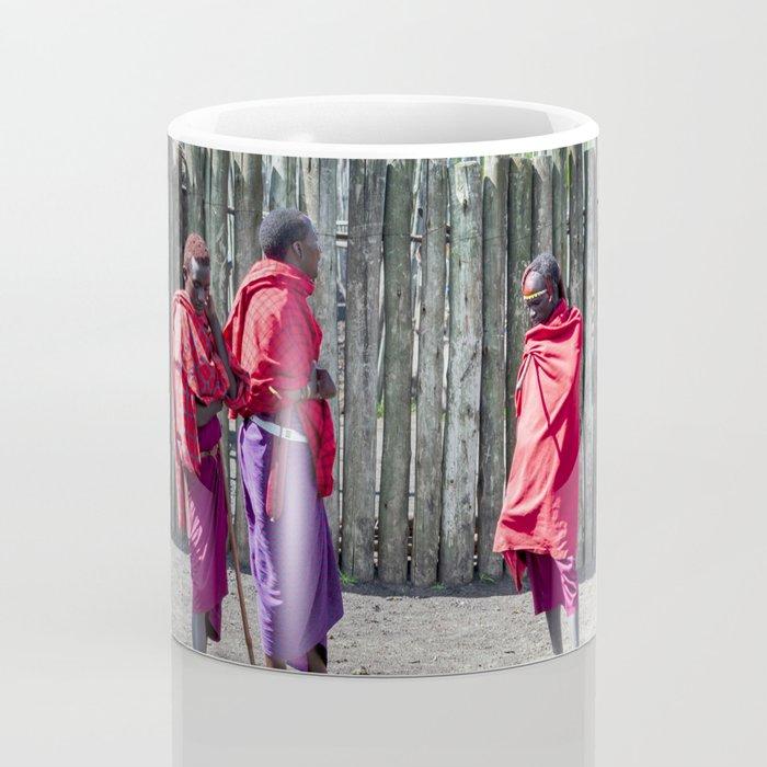 Africa 4123 Five Maasai Warriors Coffee Mug