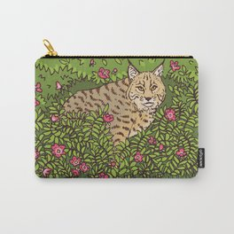 Bobcat & Wild Rose Carry-All Pouch