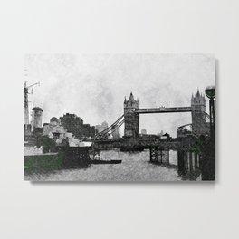 Life on the Thames - London, England Metal Print