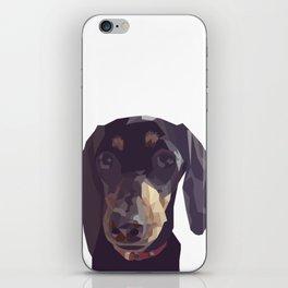 Geometric Sausage Dog Digitally Created iPhone Skin