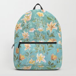 Mint Botanical Pattern Backpack