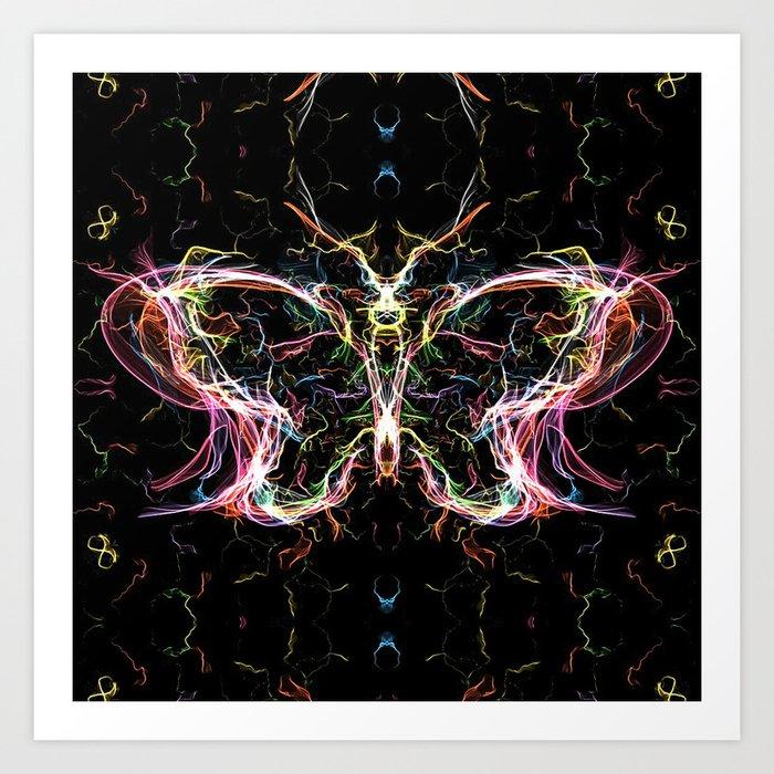 Radiant lighting butterfly Art Print