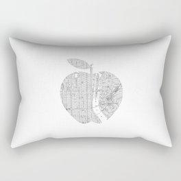 New York City big apple Poster black and white I Heart I Love NYC home decor bedroom wall art Rectangular Pillow