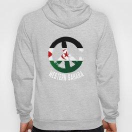 Western Sahara Peace Sign Shirt Hoody