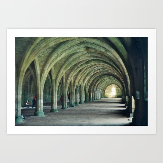 Fountains Abbey Crypt Art Print