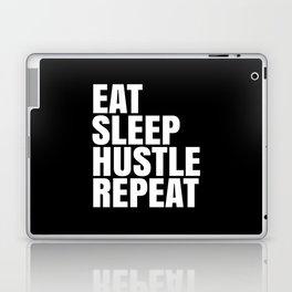 Eat Sleep Hustle Repeat (Black & White) Laptop & iPad Skin
