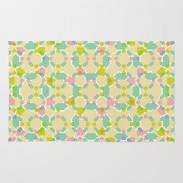 Pastel Bubblegum Kaleidoscope Rug