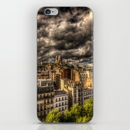 Storm over Montmartre with Sacre Coeur iPhone Skin