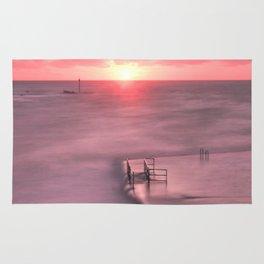 The Sea Pool Sunset, Bude, Cornwall, England, United Kingdom Rug