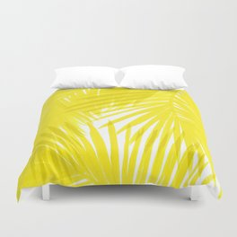 Palms Yellow Duvet Cover