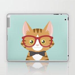 Orange Tabby Hipster Cat Laptop & iPad Skin