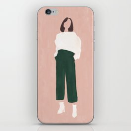 Pink + Green iPhone Skin