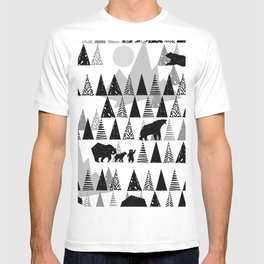 Black and white Forest T-shirt