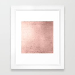 Blush Rose Gold Ombre Framed Art Print