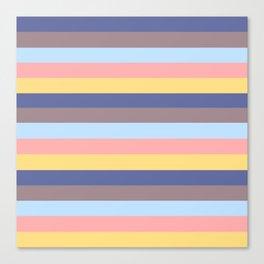 Pastel Retro Stripes Canvas Print