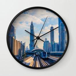 Dubai, the city of the future. Wall Clock