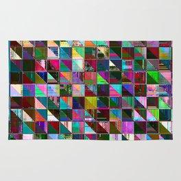 glitch color pattern Rug