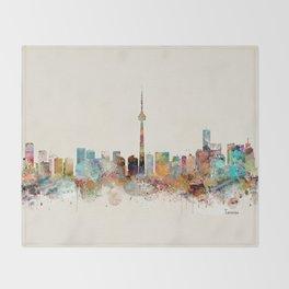 Toronto Ontario skyline Throw Blanket