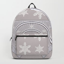Lacy Mocha Pattern with Creamy Chenille Stars Backpack