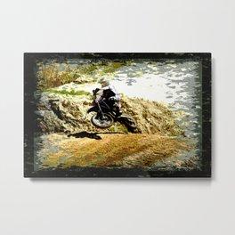 Dirt-bike Racer Metal Print