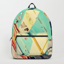 Turquoise Train Backpack